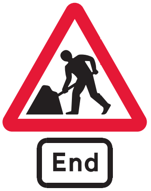 End of road works
